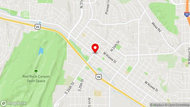 Google Map of 2532 W. Colorado Avenue, Colorado Springs, CO 80904