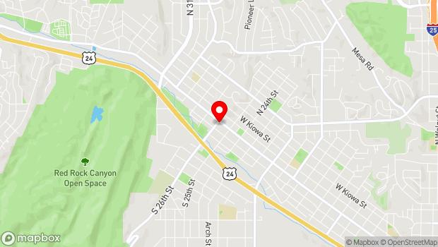 Google Map of 2531 West Colorado Avenue, Colorado Springs, CO 80904