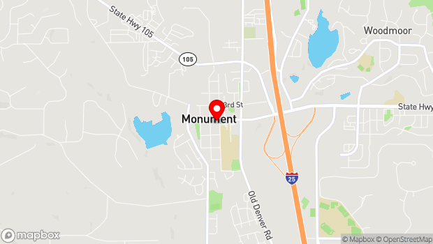 Google Map of Tri Lakes Chamber of Commerce 166 Second ST, Monument, CO 80132