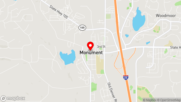 Google Map of 243 Washington Street, Monument, CO 80132