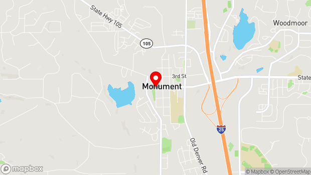 Google Map of Front St. & 2nd St., Monument, CO 80132
