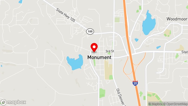 Google Map of 251 Front St, Monument, CO 80132