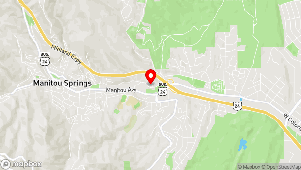 Google Map of 302 El Paso Blvd., Manitou Springs, CO 80829