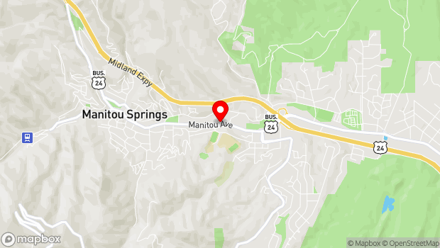 Google Map of Manitou Avenue, Manitou Springs, CO 80829