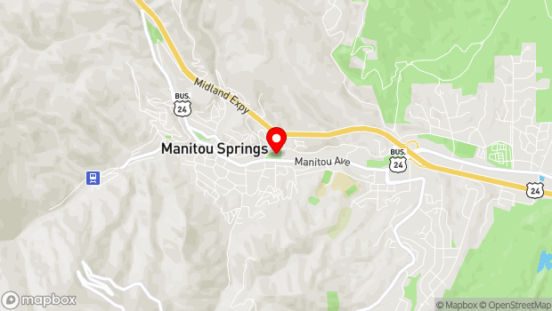 Google Map of 502 Manitou Ave., Manitou Springs, CO 80829