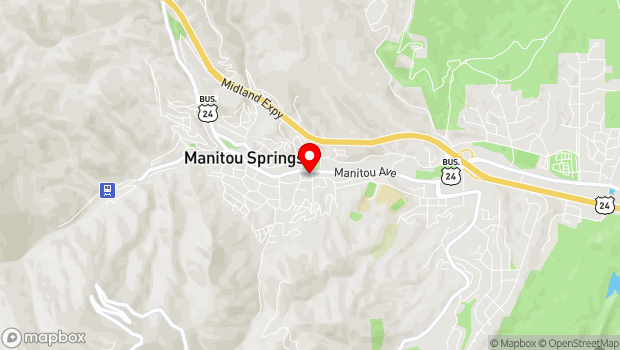 Google Map of 513 Manitou Ave, Manitou Springs, CO 80829