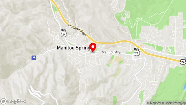 Google Map of 517 Manitou Avenue, Manitou Springs, CO 80829