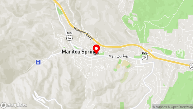 Google Map of 606 Manitou Avenue, Manitou Springs, CO 80829
