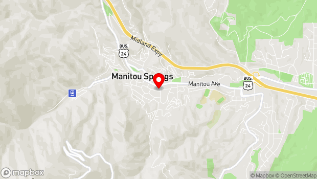 Google Map of 701 Manitou Avenue, Manitou Springs, CO 80829