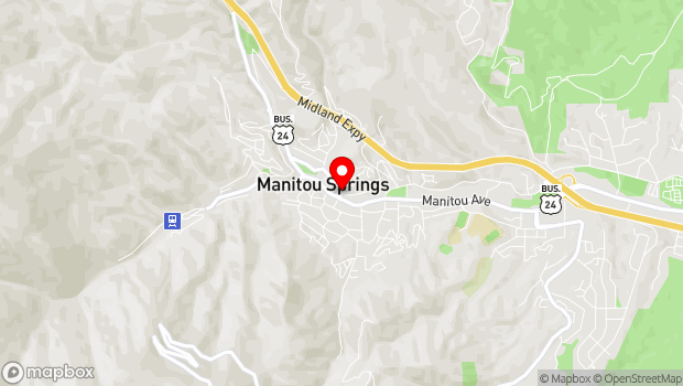 Google Map of 102 Canon Ave, Manitou Springs, CO 80829