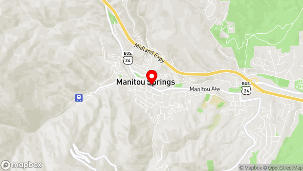 Google Map of 808 Manitou Ave., Manitou Springs, CO 80829