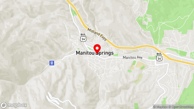 Google Map of 900 Manitou Ave., Manitou Springs, CO 80829