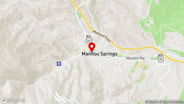 Google Map of 16 Ruxton Avenue, Manitou Springs, CO 80829