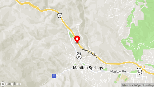 Google Map of 1360 Serpentine Drive, Manitou Springs, CO 80829