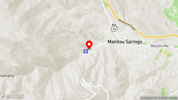 Google Map of 444 Ruxton Ave., Manitou Springs, CO 80829