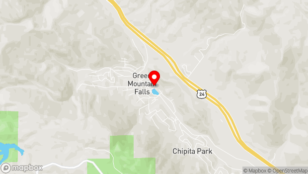 Google Map of 100 Lake Street, Green Mountain Falls, CO 80819