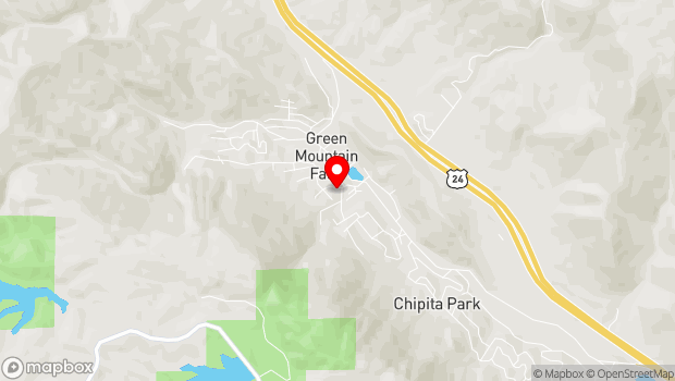 Google Map of 6850 Park Avenue, Green Mountain Falls, CO 80819