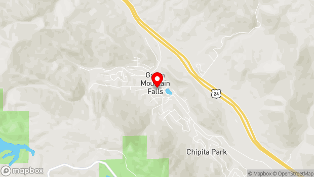 Google Map of 10580 Foster Avenue, Green Mountain Falls, CO 80819