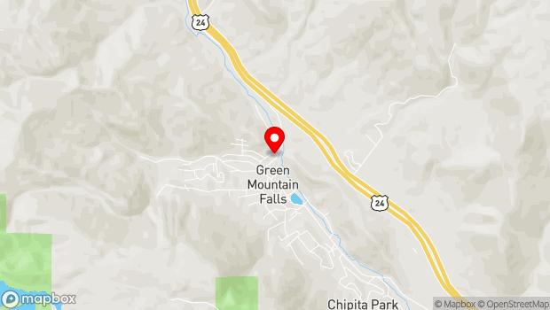 Google Map of 10795 Ute Pass Avenue, Green Mountain Falls, CO 80819
