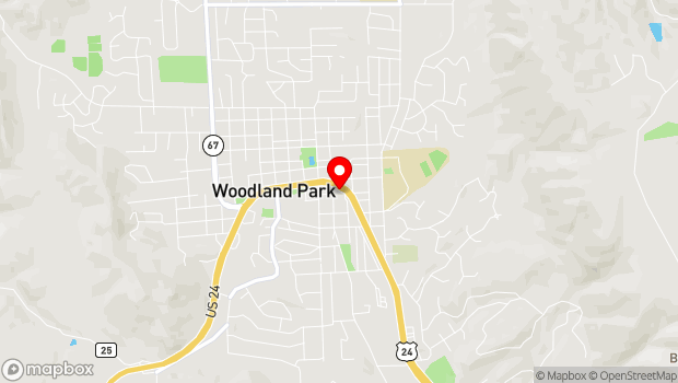 Google Map of 201 S. Fairview St., Woodland Park, CO 80863