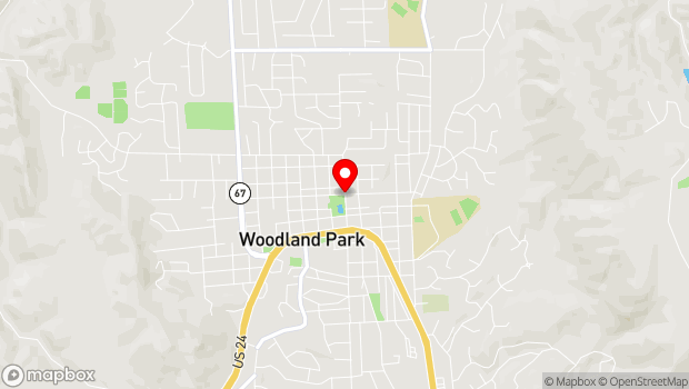 Google Map of N Park St & W Lake Ave, Woodland Park, CO 80863