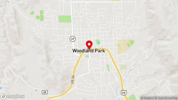 Google Map of Highway 24, Woodland Park, CO 80863
