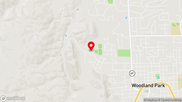 Google Map of 2000 Evergreen Heights Drive, Woodland Park, CO 80863