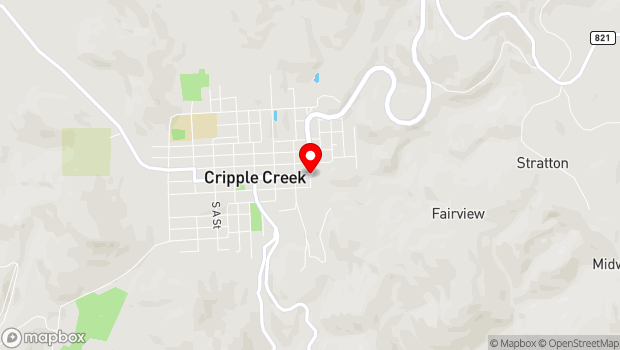 Google Map of 5th & Bennett, Cripple Creek, CO 80813