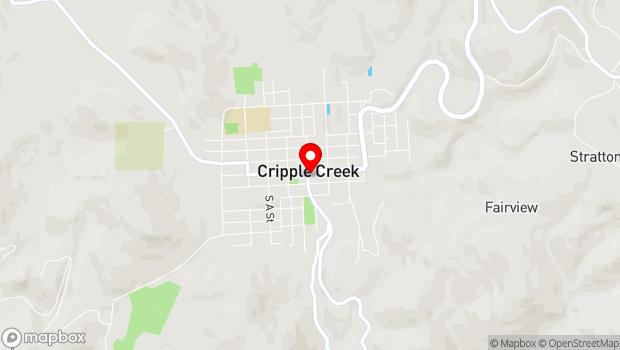 Google Map of 200 E Bennett Ave, Cripple Creek, CO 80813