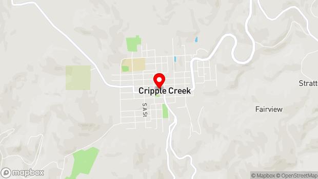 Google Map of 139 E. Bennett Ave., Cripple Creek, CO 80813