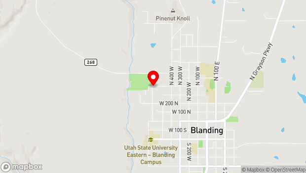 Google Map of 660 W 400 N, Blanding, UT 84511