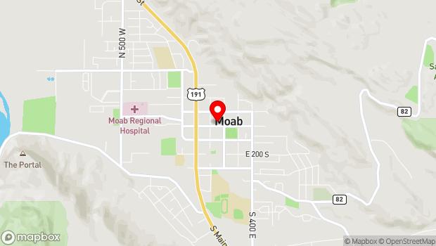 Google Map of 159 East Center Street, Moab, UT 84532