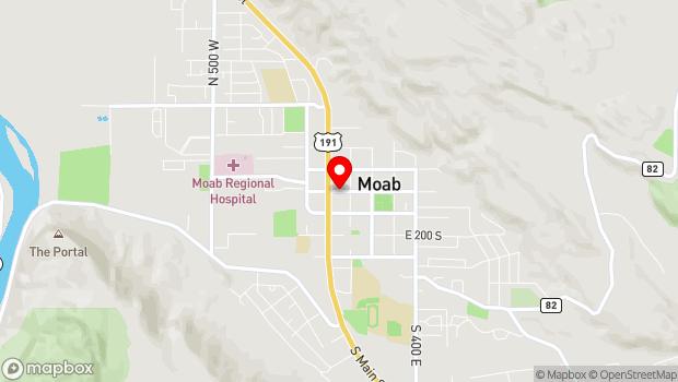 Google Map of Moab, UT 84532