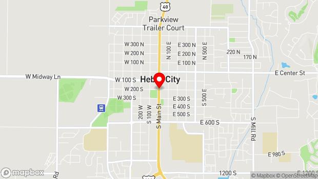Google Map of 200 S Main Street , Heber City, UT 84032