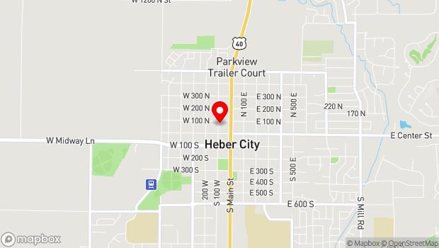 Google Map of 90 North 100 West, Heber City, UT 84032