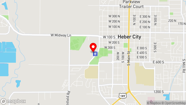Google Map of 450 South 600 West, Heber City, UT 84032
