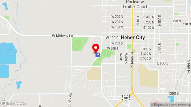 Google Map of 450 South 600 West, Heber City, UT 84032