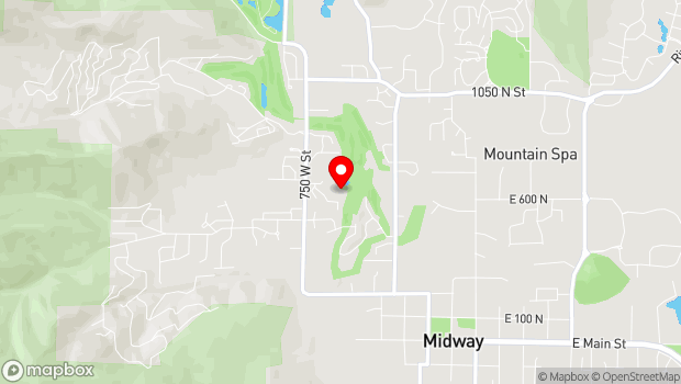 Google Map of 700 North Homestead Drive, Midway, UT 84049