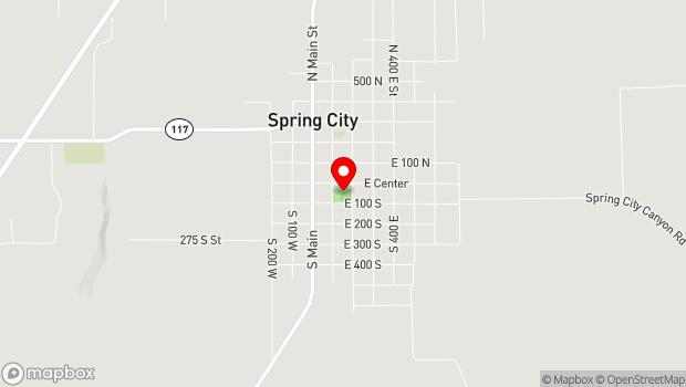 Google Map of 150 East Center, Spring City, UT 84662