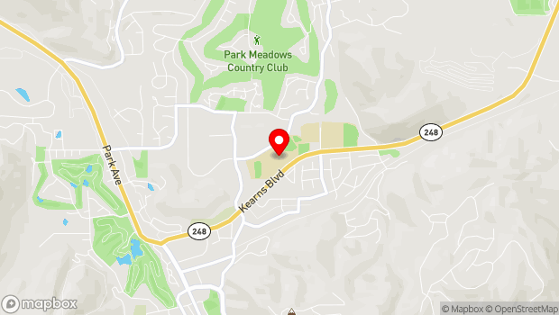 Google Map of 1750 Kearns Boulevard, Park City, UT 84060