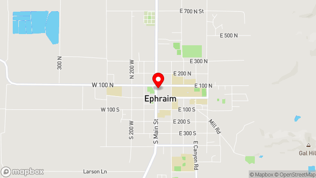 Google Map of 86 Main Street, Ephraim, UT 84627