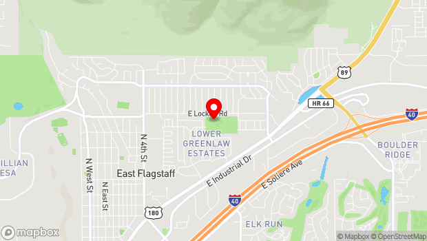 Google Map of 3150 North Alta Vista, Flagstaff, AZ 86004