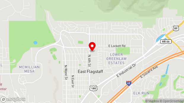 Google Map of 2920 N. 4th Street, Flagstaff, AZ 86004