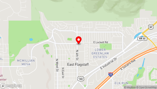 Google Map of 3000 North Fourth Street, Suite 5, Flagstaff, AZ 86004