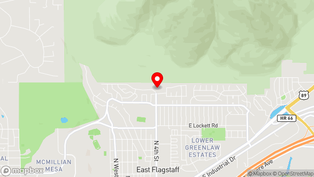 Google Map of 3600 North Fourth Street, Flagstaff, AZ 86004