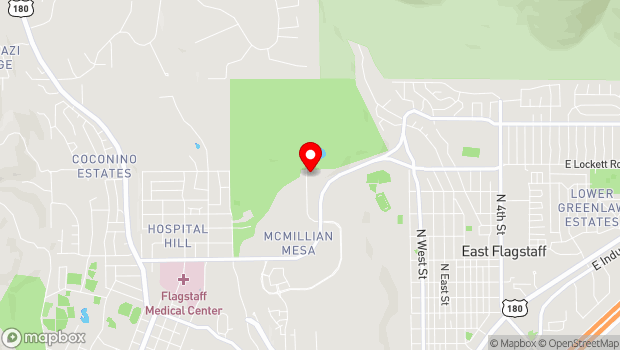 Google Map of 2400 North Gemini Drive, Flagstaff, AZ 86004