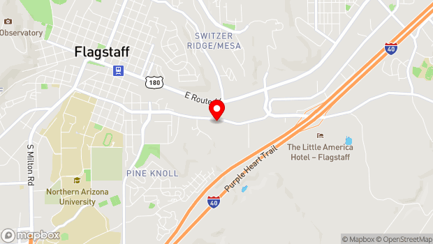 Google Map of 1311 E. Butler Ave., Flagstaff, AZ 86001