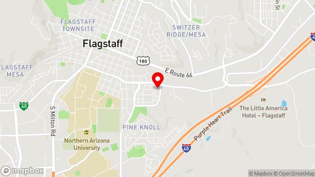 Google Map of 320 S Cambridge Lane, Flagstaff, AZ 86001