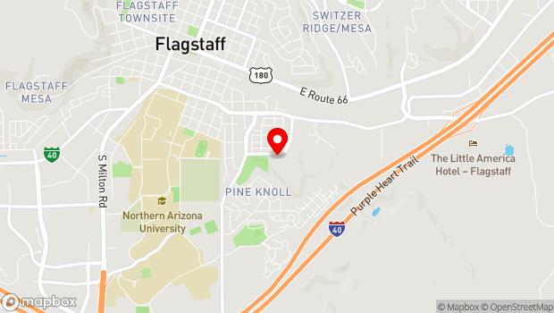 Google Map of 911 Sawmill Rd., Flagstaff, AZ 86001