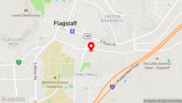 Google Map of 319 Regent St, Flagstaff, AZ 86001